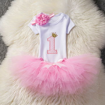 e9924708a3ab7 $16.88 1 year girl baby birthday dress summer 2019 cotton kids baby clothes  first 1st birthday Christening Christmas dresses for girls
