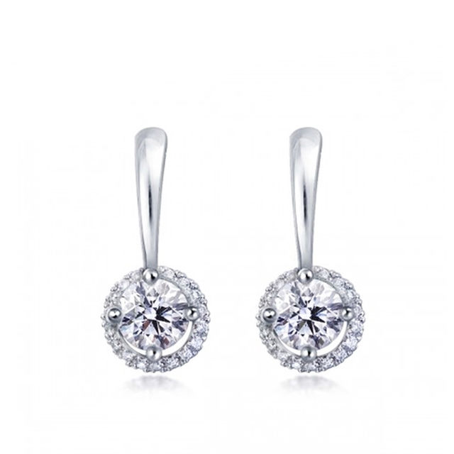 Concentric Circle Earrings: $30.99 Concentric Circle Crystal Drop Earrings