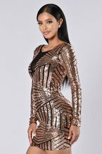 41 99 Gold Sequined Backless Bodycon Dress
