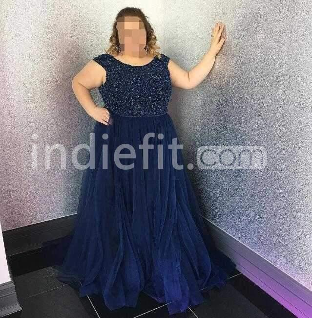 $159.99 Long Prom Dresses 2018 A-line Strapless Sleeveless Plus Size