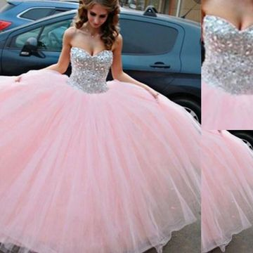 af0df4fd66  172.99 Long Ball Gown Sweetheart Sleeveless Beading Prom Dresses 2019