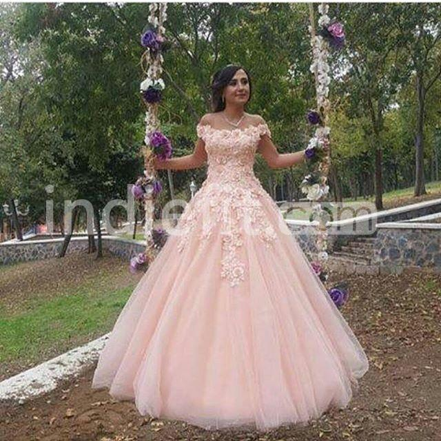 Pink Wedding Gown 2019: $166.90 Pink Long Prom Dresses 2019 Ball Gown