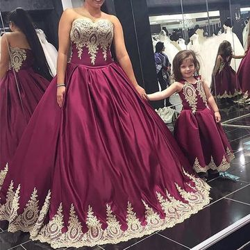 Burgundy Long Prom Dresses 2019 Ball Gown Plus Size