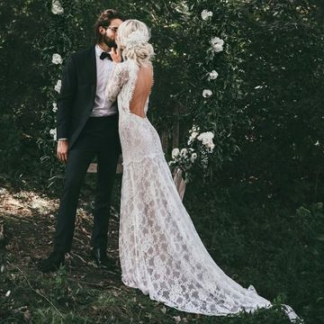 262 99 Vintage High Neck Long Sleeves Backless 2020 Mermaid Lace Wedding Dress Open Back,Dresses For Wedding Mother Of Groom