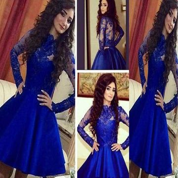 2cc3956190c  145.99 Sexy A-line Long Sleeves Zipper Appliques Homecoming Prom Dresses  2019 For Short Girls