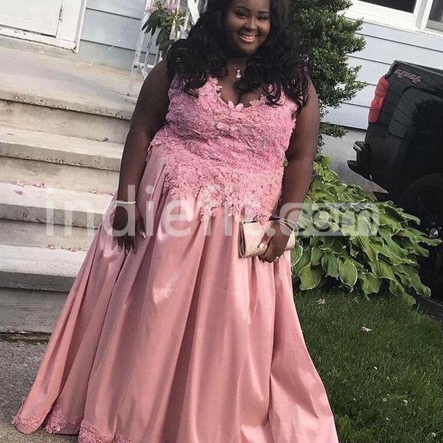 Long Formal Dresses 2019 A-line Sleeveless African Plus Size