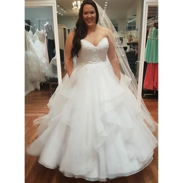 Long Wedding Dresses 2019 Ball Gown Sleeveless Plus Size