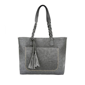 494a7c52 $26.88 2019 New Women Messenger Bags With Tassel Famous Designers Leather  Handbags Large Capacity Women Bags Shoulder Tote Bags bolsos