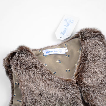 bfd645ed6246  18.88 2019 Autumn Winter Baby Sleeveless Faux Fur Vest Baby Girl ...