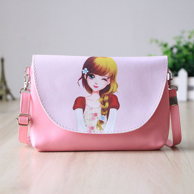 0571e3a7c015  17.54 2017 New Cartoon printing Women bag Female PU leather Mini Crossbody  Shoulder bags Girls Messenger bag bolsa feminina B075