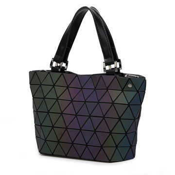 0340ecf683c4  39.03 2017 New Fashion Japan Style Laser Baobao Bag Geometric Fold Over Diamond  Luminous Women Brand Handbags Bag Bao Bao Issey Sac