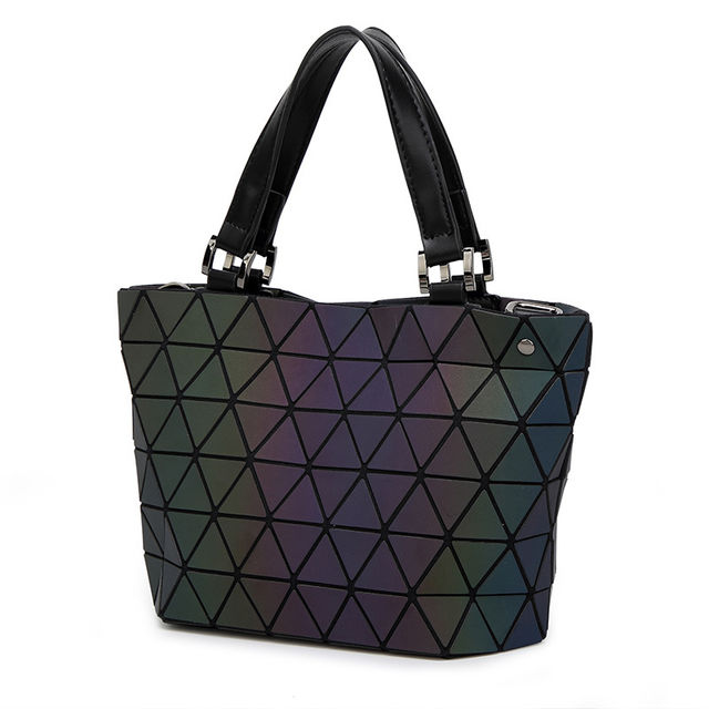 8f01ccf289c5  39.03 2019 New Fashion Japan Style Laser Baobao Bag Geometric Fold Over Diamond  Luminous Women Brand Handbags Bag Bao Bao Issey Sac