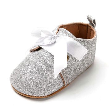 dc7b1afe0649 $10.93 2019 New Infant Baby Boy Girl Glitter Trainers Soft Sole Pram Shoes  Leopard Bow Baby First Walkers Shoes 0-18M