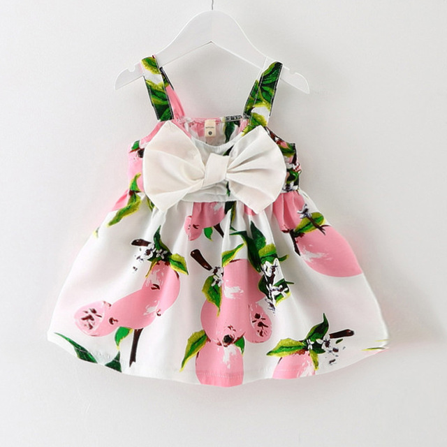 4e6bcda458b38 $11.65 2019 Real Knee-length Sleeveless Bow Cute New Baby Dress Girls  Clothes Slip Infant Girl Dresses For Princess Birthday Sale Hot
