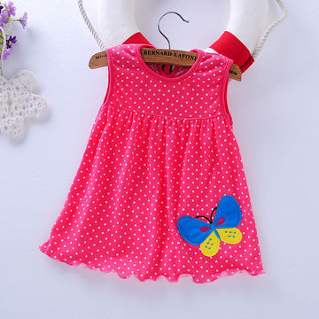 f010675f8c $11.24 2019 Real Time-limited Knee-length Beach Baby Girl Dress Female Baby  Dress Summer Cotton Sling Princess 0-1-3 Years Old Bag