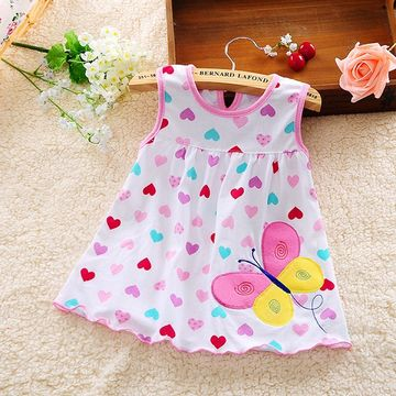 e21651244e $10.97 2019 children's clothing 0-1-2-3-4 years old baby girl summer new  green leaves and flowers folding linen casual Princess Dress