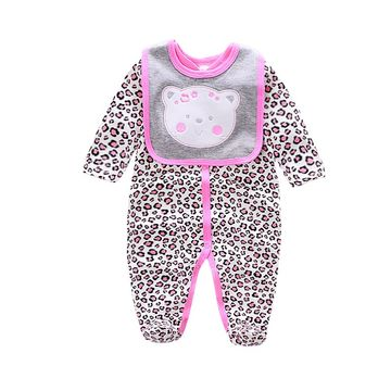 2019 cotton Baby Rompers animal style infant Boy rompers Jumpsuit+bib  babies 0-12m baby wear Baby girl Rompers Newborn Clothes