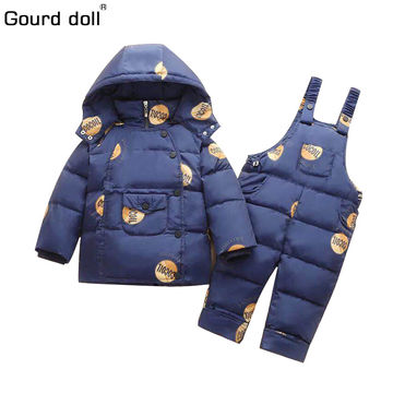7fe4cc35a  43.33 2019 russian winter baby boy girl clothing sets duck down ...