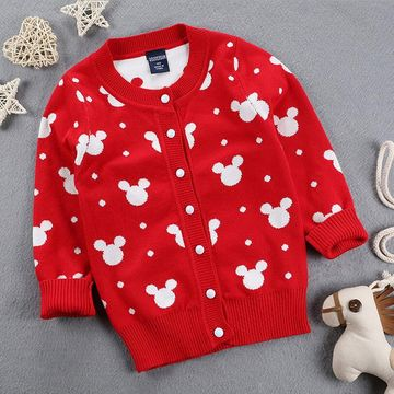 4863e75f8  21.46 2019 Autumn Winter New Girls Cartoon Mickey Sweaters Kids ...