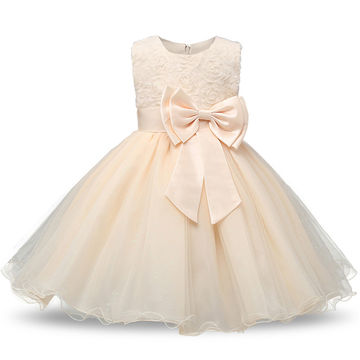 0223e4a865e9e $17.88 2019 Cute Fashion Baby Flower Christening Gown Baptism Clothes  Newborn Kids Girls Birthday Princess Infant Party Dresses Costume