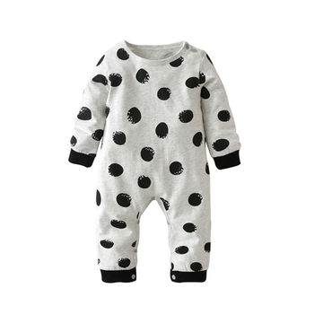4e1dfe029b63d 2019 Hot selling Fashion Baby Boy Girl Clothes Newborn Toddler Long-sleeved  Dot jumpsuit Infant Clothing set Outfits