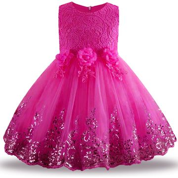 44ac7bf2753e $22.87 2019 Lace Sequins Formal Evening Wedding Gown Tutu Princess Dress  Flower Girls Children Clothing Kids Party For Girl Clothes