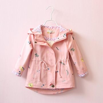 656de651073d  24.04 2019 New Spring Autumn Girls Windbreaker Coat Baby Kids ...
