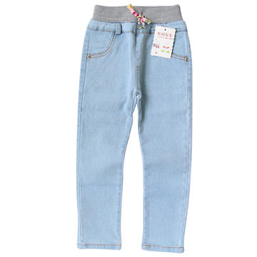 deb54a152 $19.21 2019 New Style Girls Jeans Kids Clothing Pants For Girls Spring  Trousers Children Jeans Elastic Waist Fashion For Baby Jeans