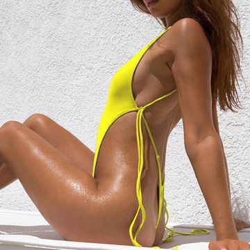 2f8bdabbb1e janelle gray one piece thong swimsuit · 1