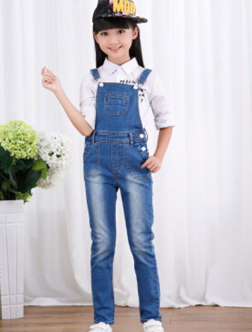 25.99 2018 autumn children s clothing girls jeans denim blue baby girl  jeans for girls big kids clothes jeans overalls long trousers da453d1318e2