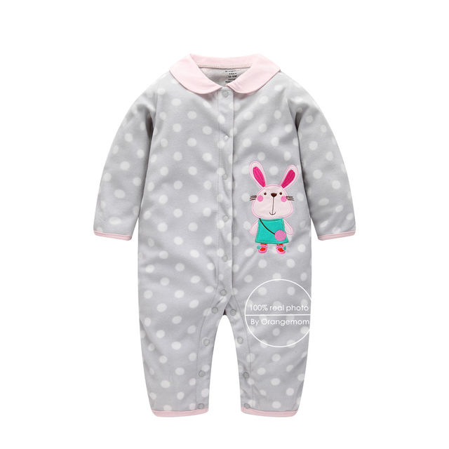 1613 2018 christmas baby girl clothes soft fleece kids one pieces jumpsuits pajamas 0 24m infant girl boys clothes baby costumes