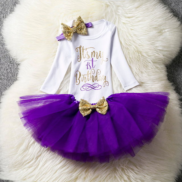 $16.88 Ai Meng Baby First Birthday Outfits Tutu Tulle 1 Year Party ...