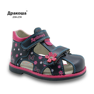 1  2  3  4  5  6  7. Apakowa 2019 New Summer Fashion Children Shoes Toddler  Girls Sandals Kids Girls PU Leather Sandals Butterfly with Arch Support e20927831c0b