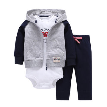 a00f2d51e682  18.22 Autumn and winter kids baby boy clothes coat+bodysuit+pant 3 ...