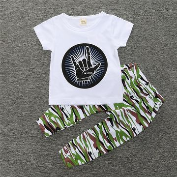 779864698b8  14.59 BCS177 Summer Kids Clothes Sets Short Sleeve Boy T-shirt Pants Suit  Clothing Set Newborn Sport Suits Children Baby Boy Clothes