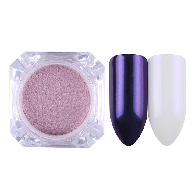 $4.77 BORN PRETTY Mirror Nail Glitter Pigment Powder 1g Gold Blue ...