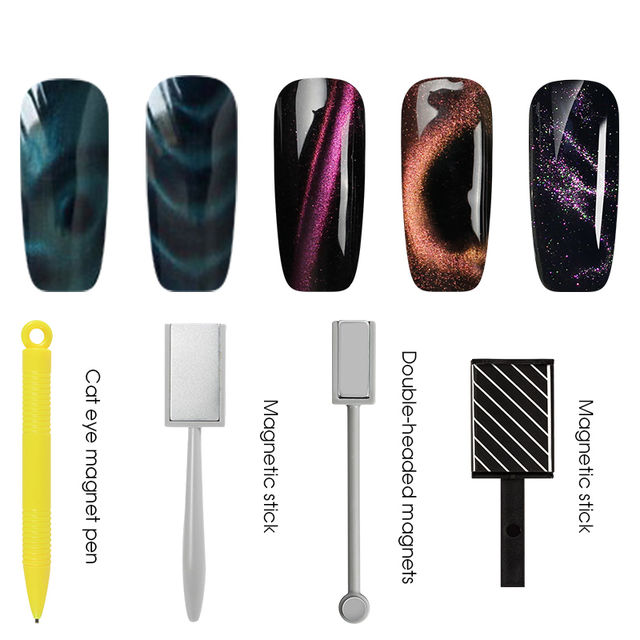 $6.29 BUKAKI Magnetic Nail Stick Strong 3D Cat Eye Effect Nail Art ...
