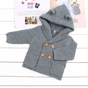 27a2fb1671f  23.27 Baby Boy Clothes Spring Baby Sweater Warm Baby Coat Fashion Newborn Baby  Clothes Solid Infant Sweater Roupas Bebe Kids Clothes