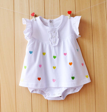 33d34887b9b  16.54 Baby Girl Rompers Summer Girls Clothing Sets Roupas Bebes Flower Newborn  Baby Clothes Cute Baby Jumpsuits Infant Girls Clothing