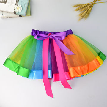 8c74568801 $14.78 Baby Girls Rainbow Tutu Skirts Fluffy Kids Ballet Pettiskirt ...