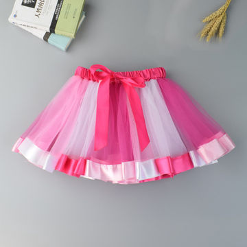 9425ef101b $14.78 Baby Girls Rainbow Tutu Skirts Fluffy Kids Ballet Pettiskirt  Princess Tulle Skirt Mini Dress Party Skirt Ball Gown Pettiskirt