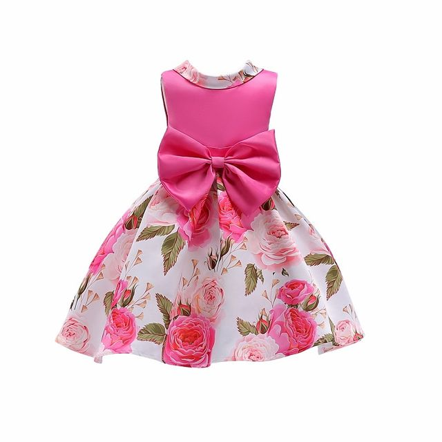 2178 Baby Girls Striped Dress For Girls Formal Wedding Party