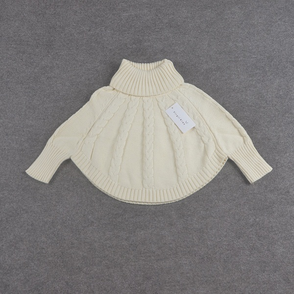 Baby Girls Sweaters Cape Children Cotton Sweater Coats Princess Turtleneck  Cloak 2019 New Arrival Christmas Clothes Cardigan