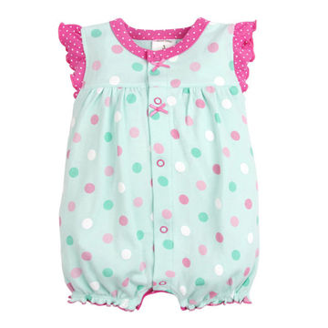 1ee065e366c5a Baby Rompers Summer Baby Girls Clothing Cartoon Newborn Baby Clothes Roupas  Bebe Short Sleeve Baby Girl Clothes Infant Jumpsuits