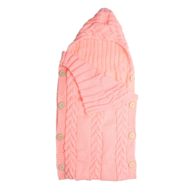 18 47 Baby Swaddle Wrap Warm Wool Crochet Knitted Newborn Infant