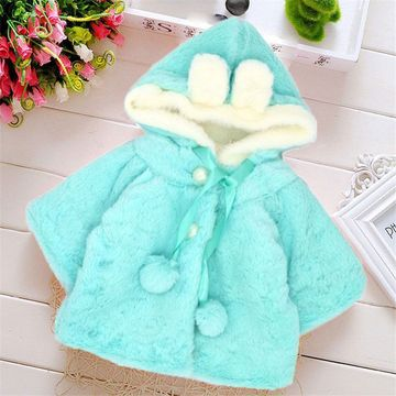 a2cadd43a25b1 $18.35 Baby girls clothes baby outerwear winter baby clothes bebes Coral  velvet hood outwears cute newborn clothes rabbit baby clothes