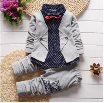 26b3985840  19.96 BibiCola Spring Autumn Baby Boys Clothing Set Casual Kids Sport suit  Infant Toddler Boys Clothes Top Coat + Pants Tracksuit Set
