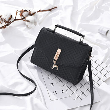 3b59f24ee549 £11.24 Bokinslon Small Square Bags Woman Casual PU Leather Ladies Handbags  Bags Solid Color Popular Girls Shoulder Bags