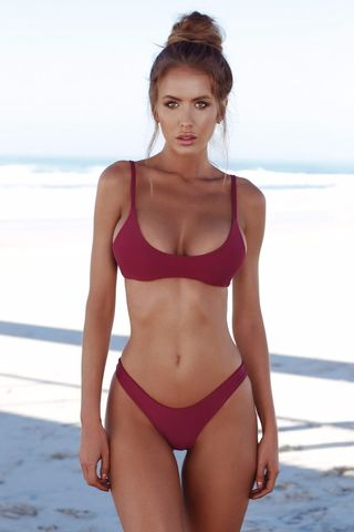 2e5ca39af8dfe $23.99 COSPOT Bikini 2019 Sexy Women Swimwear Brazilian Bikini Push Up Swimsuit  Solid Beachwear Bathing Suit Thong Biquini Bikini Set