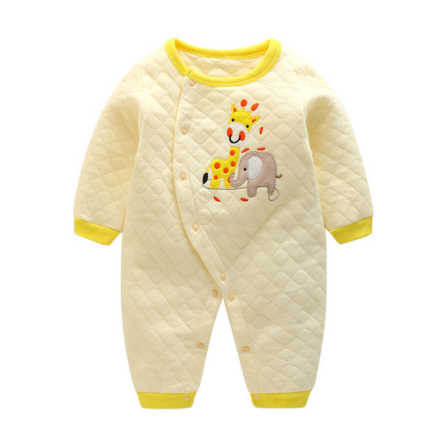 caac2003789  17.65 CalaBob 2018 Baby Rompers Long Sleeve Cotton Baby Onesie Newborn Boy Girl  Clothes Cartoon Baby Jumpsuit Infant Clothing